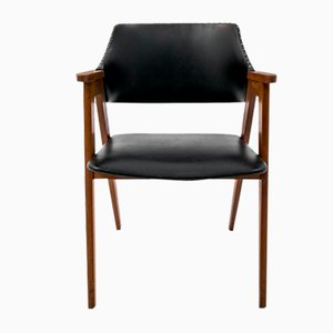 Mid-Century Danish Leather Armchair by Erik Kirkegaard, 1960s