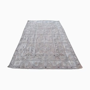 Large Mid-Century Turkish Faded Colors Woolen Oushak Rug, 1970s