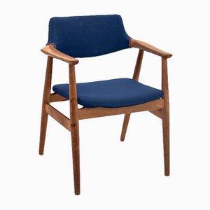 Mid-Century Danish Blue Armchair by Erik Kirkegaard, 1960s