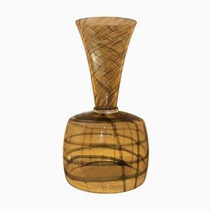 Italian Murano Glass Black Strip Vase, 2008