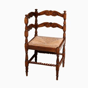 French Beech Corner Chair, 1910s