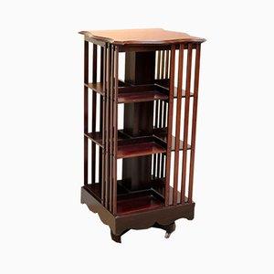 Antique Edwardian Mahogany Revolving Bookcase