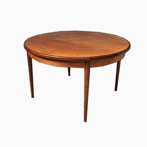 Mid-Century Danish Teak Extending Circular Dining Table from G-Plan