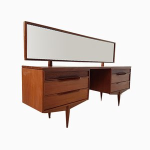 Mid-Century Rosewood Console Dressing Table with Mirror from White & Newton