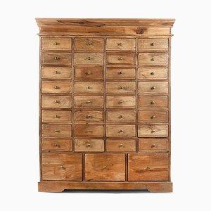 Holzschrank mit 35 Schubladen, 1940er