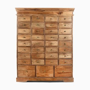 Wooden Cabinet with 35 Drawers, 1940s