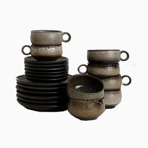 Vintage Boho Ceramic Tea Service Set, 1970s