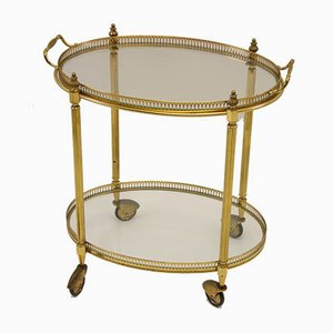 Golden Bar Trolley from Maison Jansen, 1950s