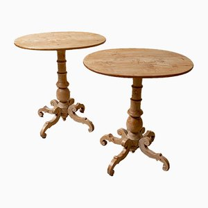 19th Century Swedish Birch Side Tables, Set of 2