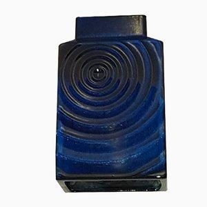 Vaso Art Studio in ceramica blu di Carl Zalloni per Steuler, anni '60