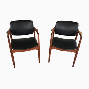 Model 67 Captain Chairs in Teak by Erik Buch for Ørum Møbelfabrik, 1960s, Set of 10
