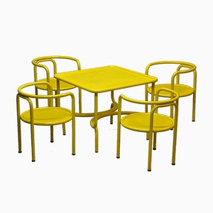 Model Locus Solus Garden Table and Chairs Set by Gae Aulenti for Poltronova, 1960s, Set of 5