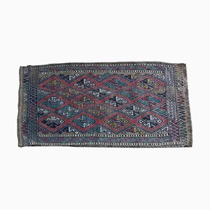 Vintage Geometrical Turkish Oushak Kilim Rug, 1970s