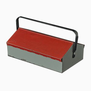 Swiss Red Tool Box by Wilhelm Kienzle for Mewa, 1960s