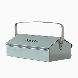 Swiss Gray Tool Box by Wilhelm Kienzle for Mewa, 1960s