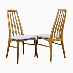 Danish Eva Chairs by Niels Koefoed for Koefoeds Hornslet, 1960s, Set of 6