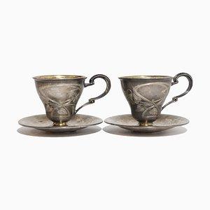 Silberne Tassen, 1920er, 2er Set