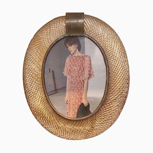 Vintage Italian Murano Glass Oval Picture Frame from Barovier & Toso, 1980s