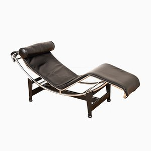 Vintage Model LC4 Chaise Lounge by Le Corbusier, Pierre Jeanneret & Charlotte Perriand for Cassina, 1920s