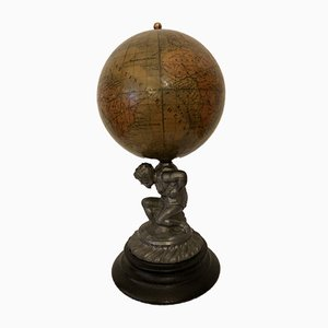 Antique Sculptural Globe by Heymann