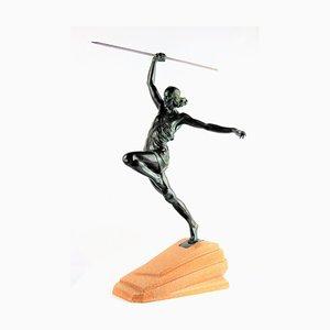 Art Deco Amazon Skulptur aus Bronze von Le Faguay, 1930er