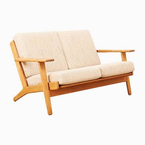 Mid-Century Solid Oak Model GE290 Plank Sofa by Hans J. Wegner for Getama