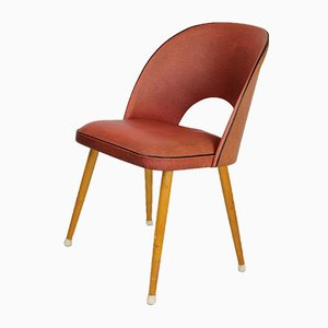 Cocktail Chair in Red Skai, 1950s
