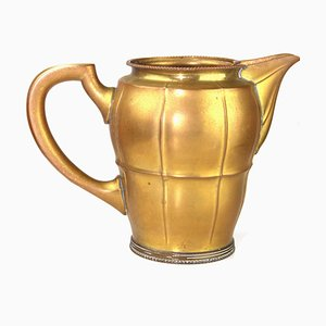 Antique Brass Jug in the Style of the Wiener Werkstätte and Josef Hoffmann, 1910s