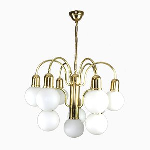 10-Light Chandelier by Orion, 1980s