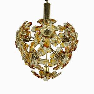 Lampe à Suspension Blossom Vintage en Verre Murano de Mazzega, 1960s