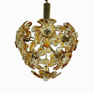 Vintage Murano Glass Blossom Pendant Lamp from Mazzega, 1960s