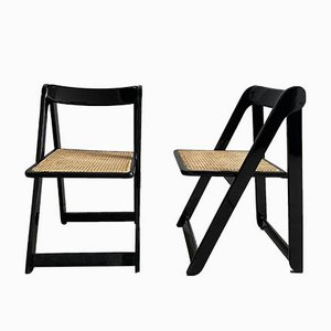 Mid-Century Italian Model Trieste Folding Chairs by Aldo Jacober & Pierangela d'Aniello for Bazzani Alberto, 1966, Set of 2