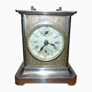 Vintage Brass Alarm Clock from Junghans, 1930s