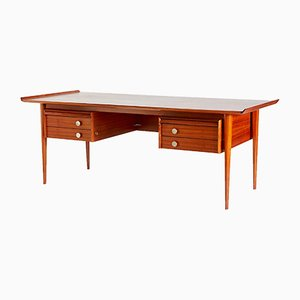 Large Mid-Century Teak Executive Desk, 1960s
