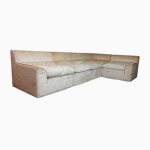 Italian Cream Velvet Modular Sofa from Studio Simon, 1970s, Set of 5