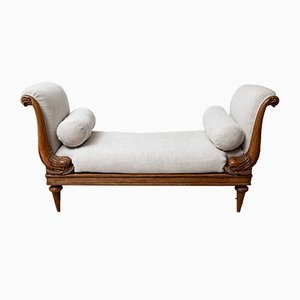 19th Century English Walnut Daybed