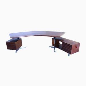 Mid-Century Rosewood T96 Boomerang Desk by Osvaldo Borsani for Tecno