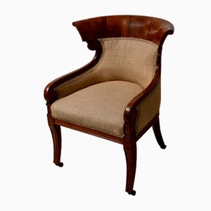 19th Century English Mahogany Library Chair