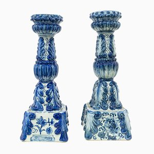 Ceramic Candleholders, 1950s, Set of 2
