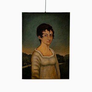 Peinture à l'Huile Portrait 19ème Siècle