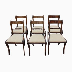 Mahogany Barback Dining Chairs with Pop out Seats, 1920s, Set of 6