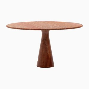 Red Travertine Dining Table by Angelo Mangiarotti for Skipper, 1970s