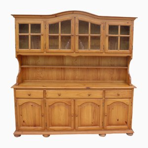 Large Country Pine 4-Door Dome Top Dresser, 1980s