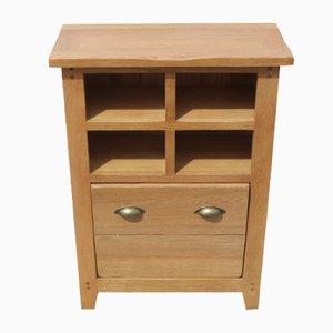 Light Oak Neat Cabinet with Storage Rack, 1980s