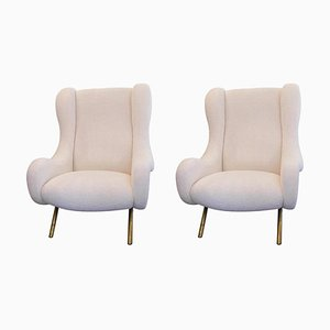 Model Senior Lounge Chairs by Marco Zanuso for Arflex , 1950s, Set of 2