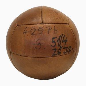 Balle de Médecine de 5kg Vintage en Cuir, 1930s