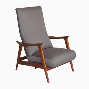 Mid-Century Teak Highback Armchair