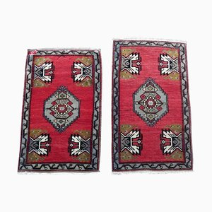 Small Vintage Turkish Oushak Rugs, 1970s, Set of 2
