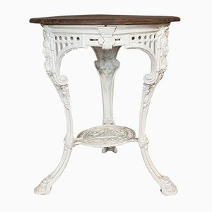 Antique Victorian English Cast Iron and Cedar Outdoor Table