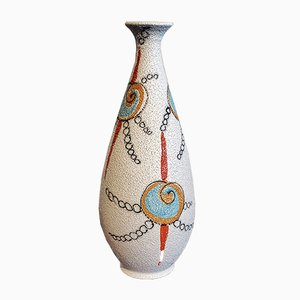 Mid-Century Hand Painted Vase from Fratelli Fanciullacci